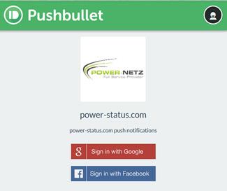 Pushbullet push notifications