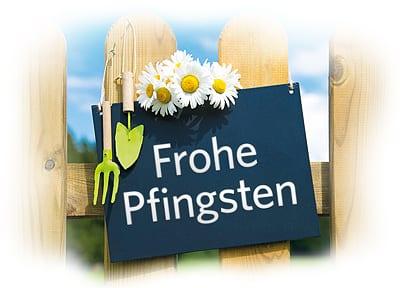Wir wünschen Ihnen frohe Pfingsten!
