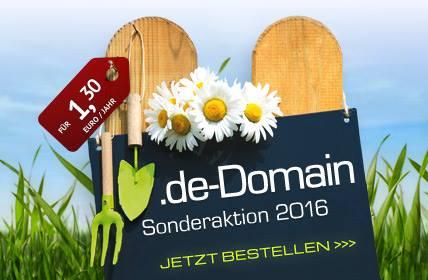 .de-Domains ab heute zum absoluten Knallerpreis!