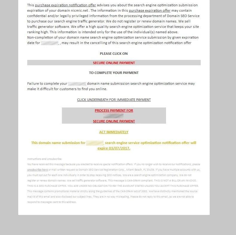 Mail Domain SEO Service