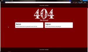 Unsere angepasste Version der 404 Fehlerseite