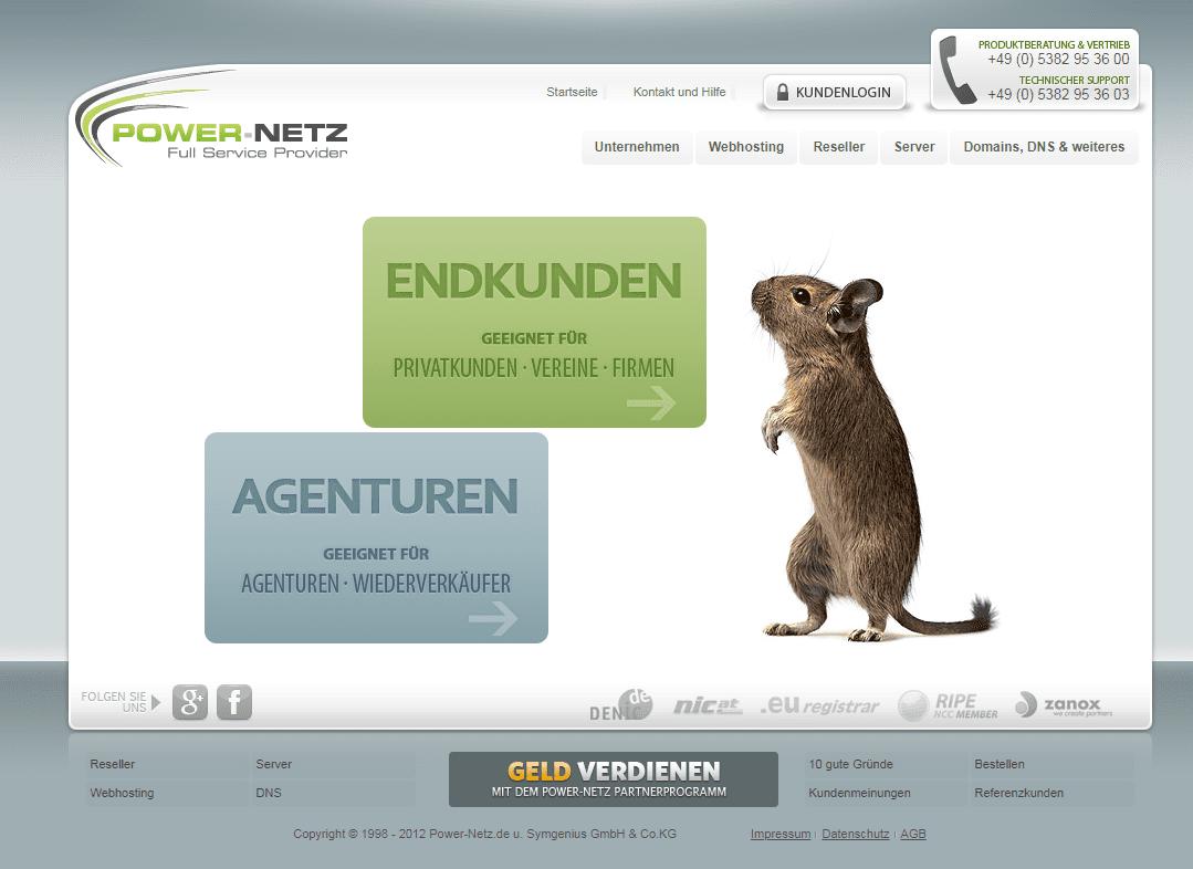 Power-Netz Webseite