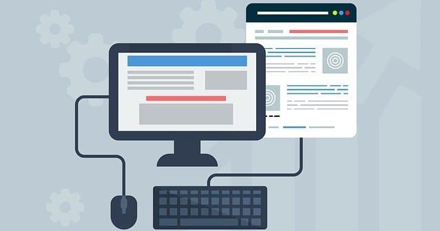 Computer mit einer Webseite
