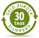 Geld zurück Garantie - 30 Tage