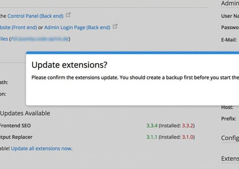 Update extensions