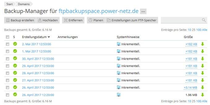 Die Rücksicherung von Daten aus einem Backup ist mit wenigen Klicks realisiert