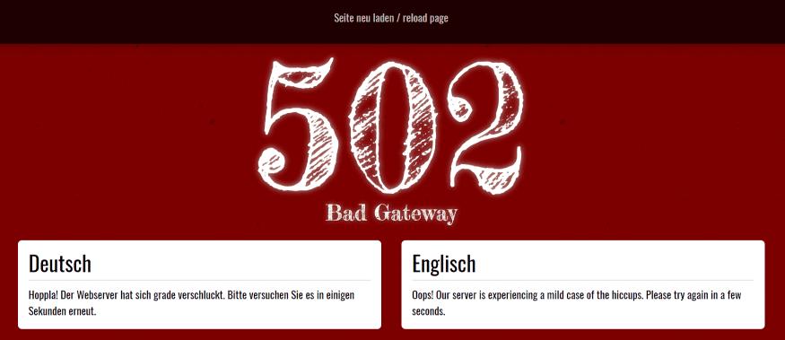 502 Bad Gateway Power-Netz Style