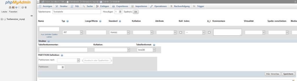 Plesk MySQL Datenbank anlegen - phpMyAdmin