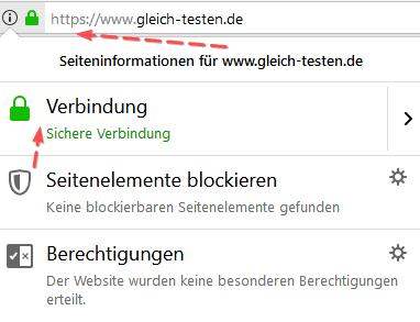 Browser: SSL-Zertifikat - Verbindung sicher